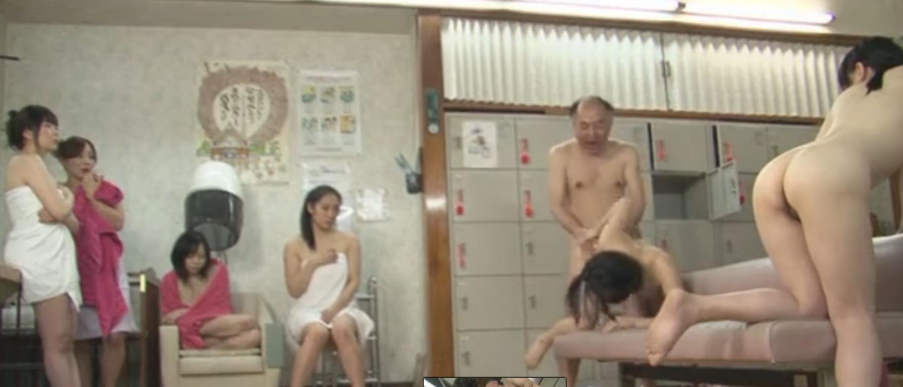 【無修正】時間を止めて銭湯の女風呂でやり放題の親父