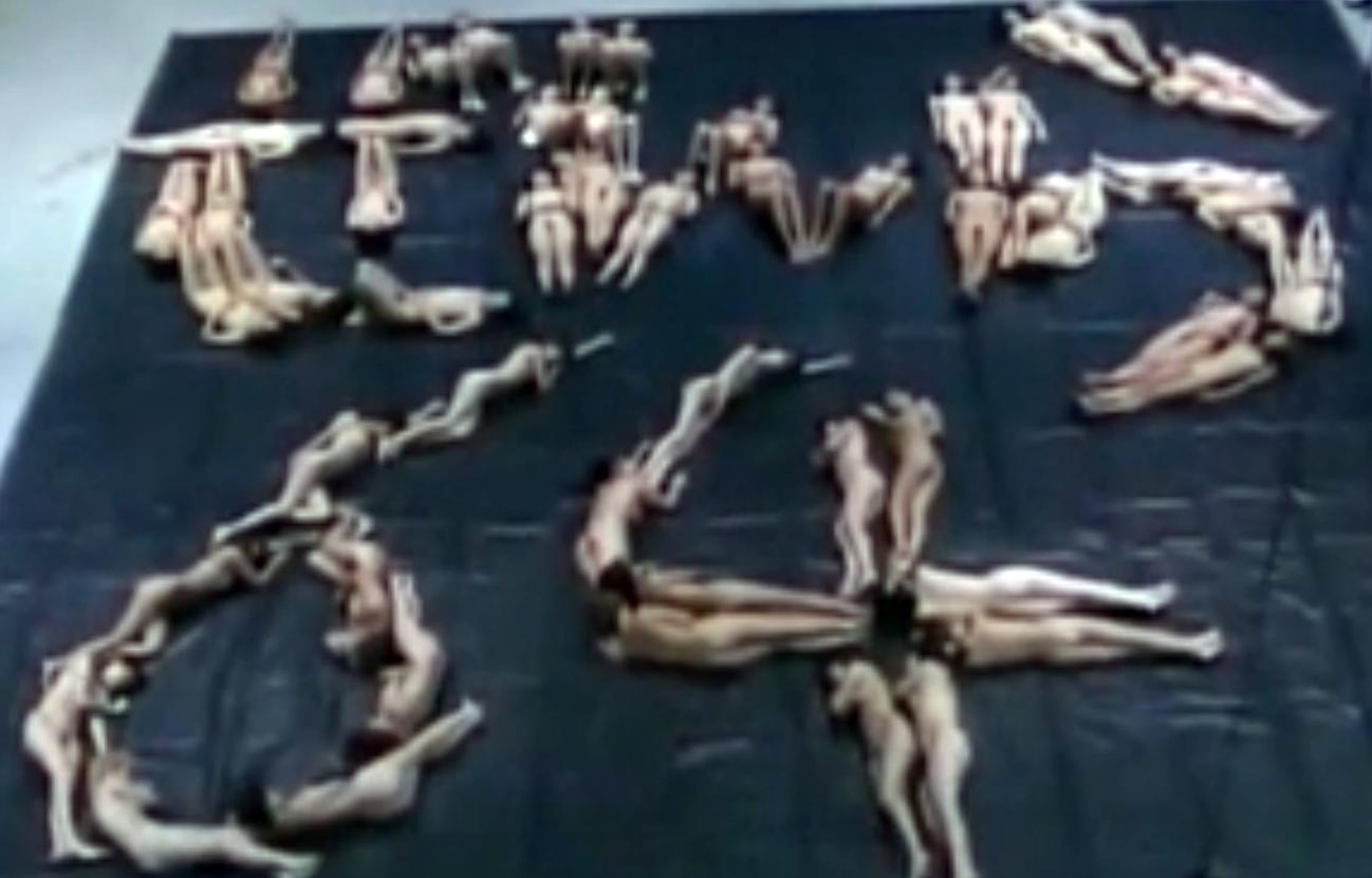 【全裸運動会】服を脱ぎ捨てた女の子たちが全力でスポーツする