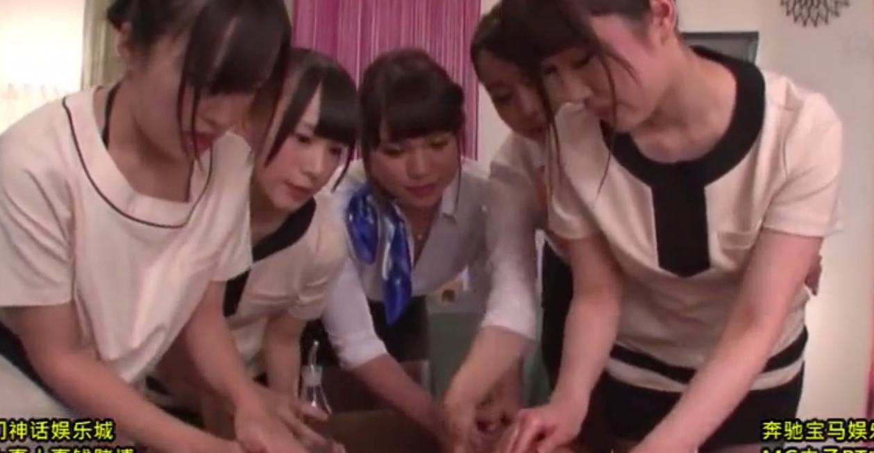 【ハーレムマッサージ】可愛いセラピスト達に囲まれペニスを集中的に施術される男