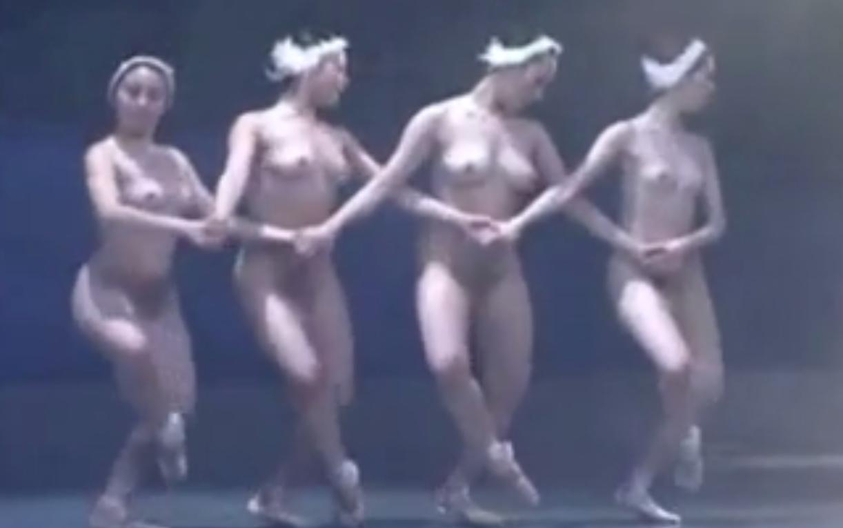 【アダルト版白鳥の湖】美しい肢体のバレリーナたちが全裸で踊り舞台でSEXする18禁バレエ
